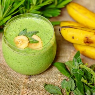 Smoothies Fruit Banana Spinach